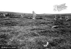 Scor Hill, Sacred Circle Showing Kestor 1924, Chagford