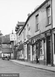 Chagford, Shopfronts In The Square c.1951