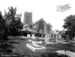 St Michael's Church, East View 1931, Chagford