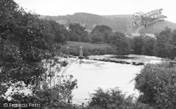 Chagford, Stepping Stones, Rushford Mill c.1935