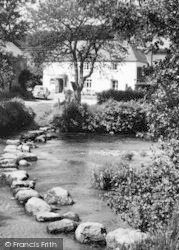 Chagford, The Stepping Stones c.1960