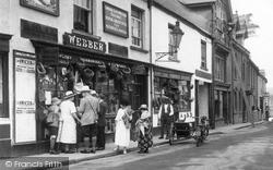 Webber's, Mill Street 1922, Chagford