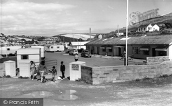 Challaborough, South Hams Caravan Park Entrance c.1960