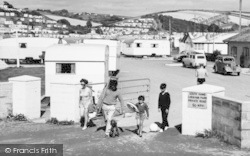 Challaborough, South Hams Caravan Park, Off To The Beach c.1960