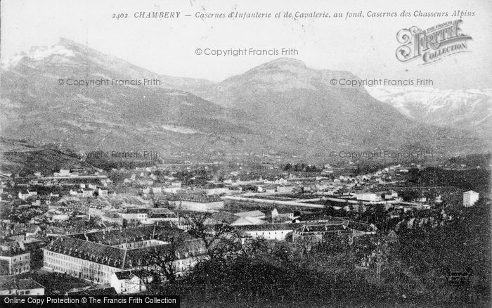 Photo of Chambéry, Infantry And Cavalry Barracks And The Alpine Barracks c.1910