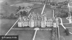 Chateau De Aerial View c.1935, Chambord