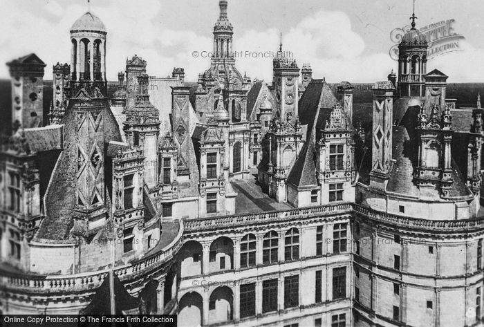 Photo of Chambord, Chateau De Chambord, Elaborate Towers And Chimneys c.1935