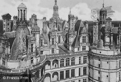 Chateau De Elaborate Towers And Chimneys c.1935, Chambord