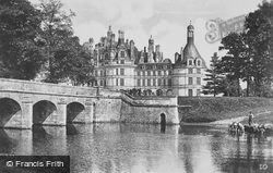 Chateau De Chambord From The River c.1935, Chambord