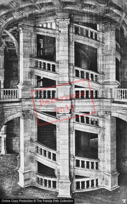 Photo of Chambord, Chateau De Chambord,  Internal Spiral Staircase c.1935