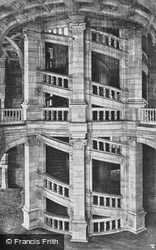 Chateau De Internal Spiral Staircase c.1935, Chambord