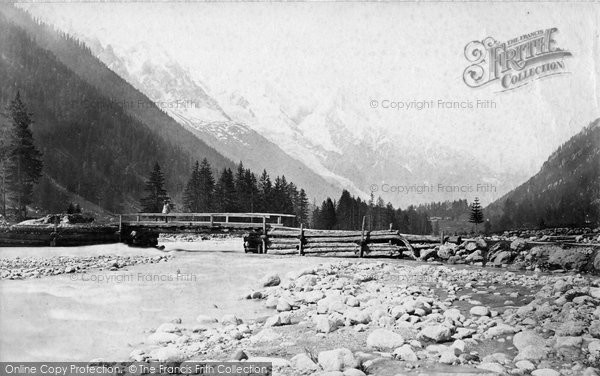 Photo of Chamonix, Mont Blanc From Argentiere c.1874