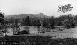 Chanctonbury Ring, The Ring And Wiston Pond c.1955