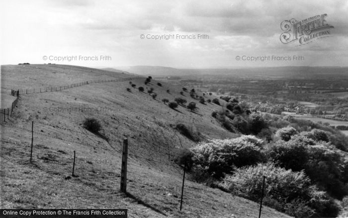 Photo of Chanctonbury Ring, View Of The Downs c.1960