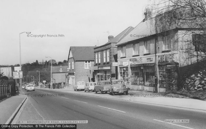 Photo of Chandler's Ford, Bournemouth Road c.1965