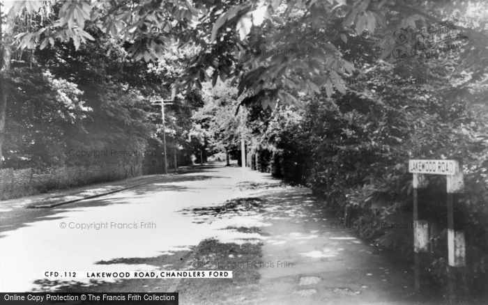 Photo of Chandler's Ford, Lakewood Road c.1965