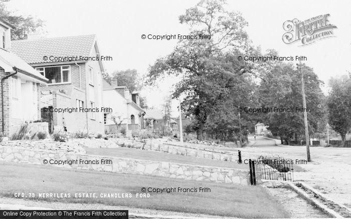 Photo of Chandler's Ford, Merrileas Estate c.1960
