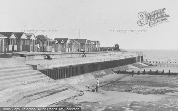 Photo of Chapel St Leonards, Beach Huts, The Promenade c.1955
