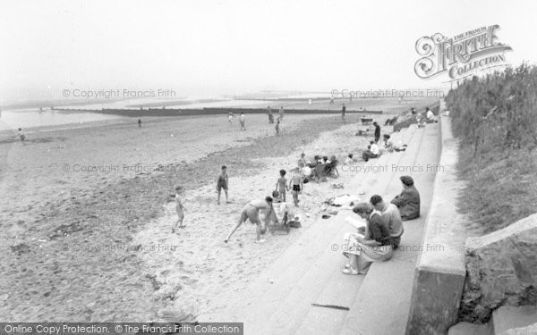 Photo of Chapel St Leonards, Beach Looking South c.1955