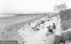 Chapel St Leonards, Beach Looking South c.1955