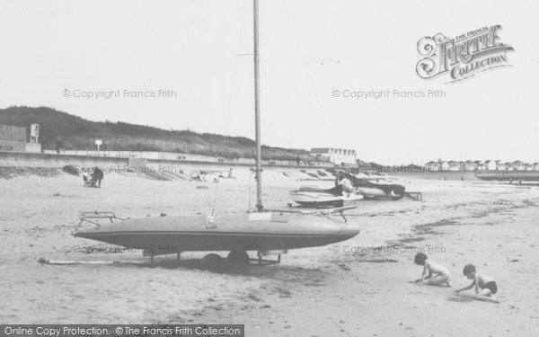 Photo of Chapel St Leonards, Boats On The Beach c.1960