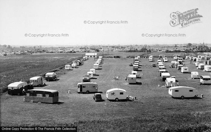 Photo of Chapel St Leonards, Caravan Camp c.1955