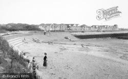 Chapel St Leonards, Chapel Point Beach c.1955