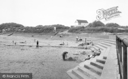 Chapel St Leonards, Chapel Point Beach c.1955