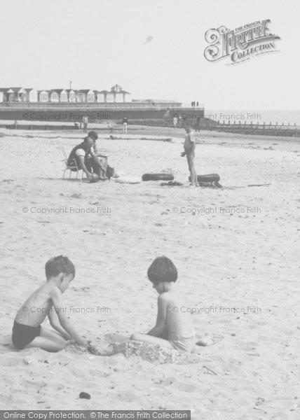 Photo of Chapel St Leonards, Children On The Beach c.1960