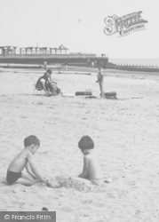 Chapel St Leonards, Children On The Beach c.1960