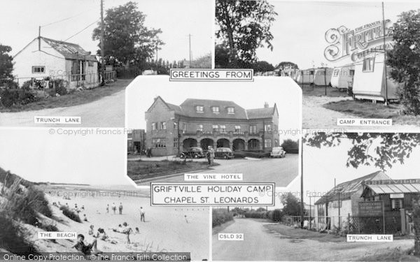 Photo of Chapel St Leonards, Composite c.1955