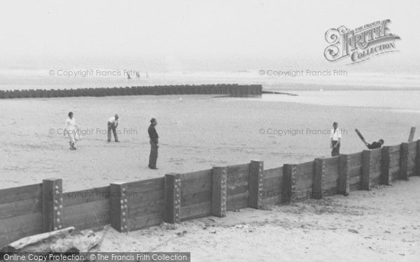 Photo of Chapel St Leonards, Cricket On Chapel Point Beach c.1955