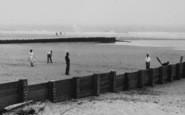 Chapel St Leonards, Cricket On Chapel Point Beach c.1955