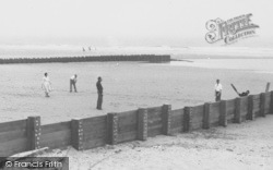 Chapel St Leonards, Cricket On Chapel Point Beach c.1955