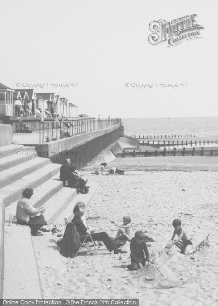 Photo of Chapel St Leonards, Family On The Beach c.1960