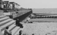 Chapel St Leonards, Family On The Beach c.1960