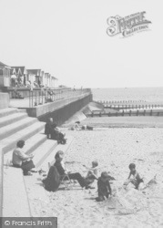 Chapel St Leonards, Family On The Beach c.1960