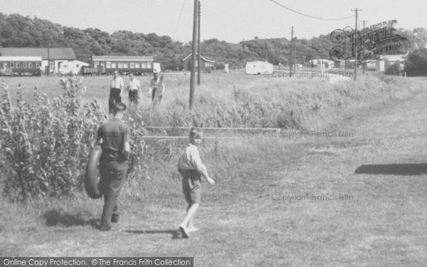 Photo of Chapel St Leonards, People At Entrance To Camping Grounds c.1955