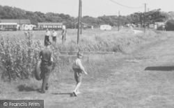 Chapel St Leonards, People At Entrance To Camping Grounds c.1955