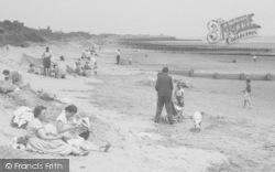 Chapel St Leonards, People On The Beach c.1955