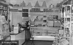 Chapel St Leonards, Stows Stores Grocery Department c.1955