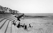 Chapel St Leonards, The Beach And Chalets c.1960
