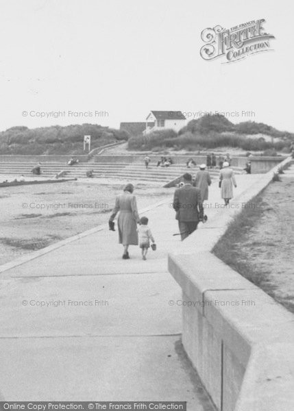 Photo of Chapel St Leonards, The Beach c.1955
