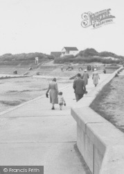 Chapel St Leonards, The Beach c.1955