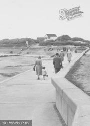 Chapel St Leonards, The Beach c.1955