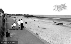 Chapel St Leonards, The Beach c.1960