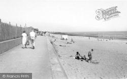 Chapel St Leonards, The Beach c.1965