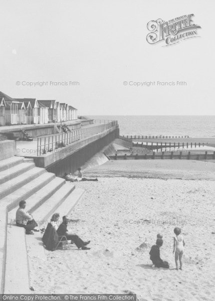Photo of Chapel St Leonards, The Chalets And Beach c.1960
