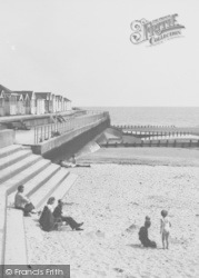 Chapel St Leonards, The Chalets And Beach c.1960