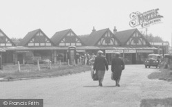 Chapel St Leonards, The Parade, Going Shopping c.1955